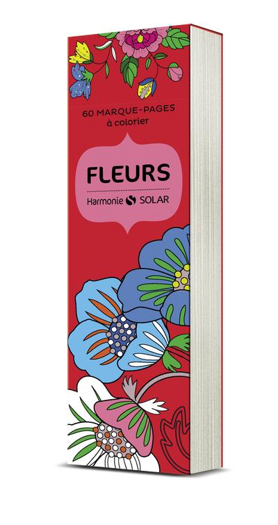 Marque-pages à colorier Harmonie : fleurs