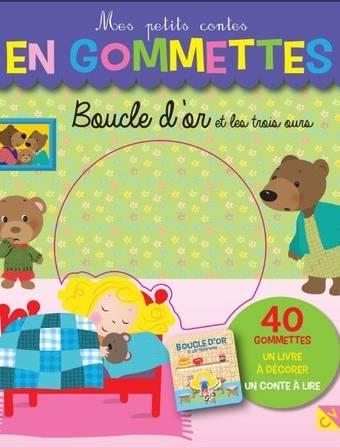 Boucle d'or et les trois ours - Mes petits contes en gommettes - 40 gommettes