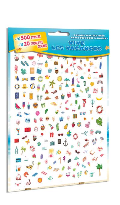Vive les vacances - 500 stickers et 20 étiquettes  cadeaux