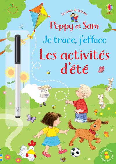 Poppy et Sam - Je trace, j'efface - Les activités  d'été - Les contes de la ferme