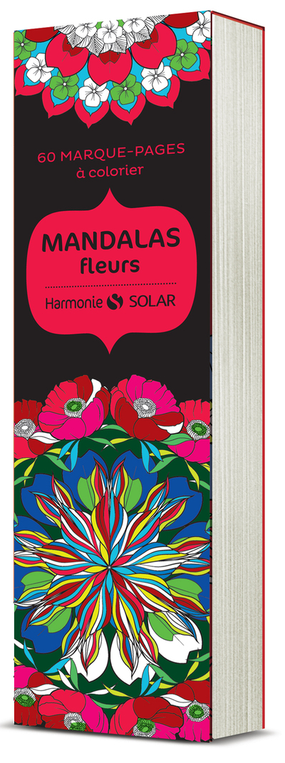 Marque-page à colorier - Mandalas fleurs
