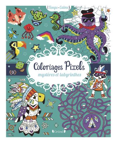 Coloriages pixels, mystères et labyrinthes