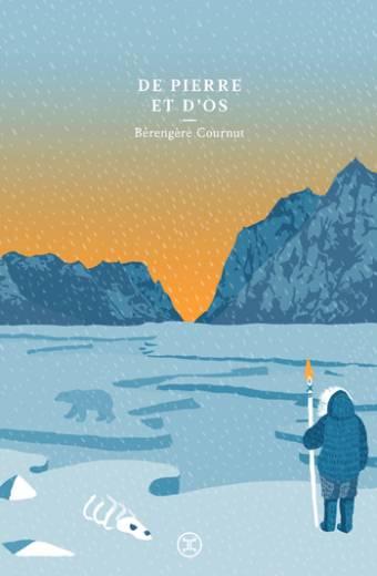«Les Inuit sont un peuple de chasseurs nomades se déployant dans l'Arctique depuis un millier d'années. Jusqu'à très récemment, ils n'avaient d'autres ressources à leur survie que les animaux qu'ils chassaient, les pierres laissées libres par la terre gelée, les plantes et les baies poussant au soleil de minuit. Ils partagent leur territoire immense avec nombre d'animaux plus ou moins migrateurs, mais aussi avec les esprits et les éléments. L'eau sous toutes ses formes est leur univers constant, le vent entre dans leurs oreilles et ressort de leurs gorges en souffles rauques. Pour toutes les occasions, ils ont des chants, qu'accompagne parfois le battement des tambours chamaniques.» (note liminaire du roman)  Dans ce monde des confins, une nuit, une fracture de la banquise sépare une jeune femme inuit de sa famille. Uqsuralik se voit livrée à elle-même, plongée dans la pénombre et le froid polaire. Elle n'a d'autre solution pour survivre que d'avancer, trouver un refuge. Commence ainsi pour elle, dans des conditions extrêmes, le chemin d'une quête qui, au-delà des vastitudes de l'espace arctique, va lui révéler son monde intérieur.  Deux ans après son romanNée contente à Oraibi, qui nous faisait découvrir la culture des indiens hopis, Bérengère Cournut poursuit sa recherche d'une vision alternative du monde avec un roman qui nous amène cette fois-ci dans le monde inuit. Empreint à la fois de douceur, d'écologie et de spiritualité,De pierre et d'osnous plonge dans le destin solaire d'une jeune femme eskimo.