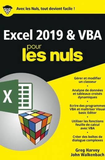 Excel 2019 & VBApour les Nuls, mégapoche