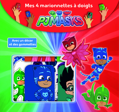 Pjmasks - Mes 4 marionnettes à doigts