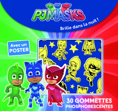 Pjmasks - 30 Gommettes phosphorescentes
