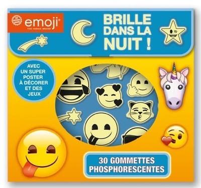 Emoji - 30 gommettes phosphorescentes