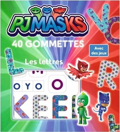 Pjmasks - Les lettres 40 gommettes Lic
