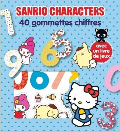 Sanrio Characters - 40 gommettes chiffres