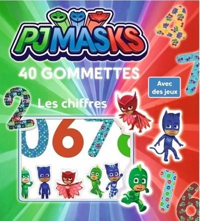Pjmasks - Les chiffres 40 gommettes Lic