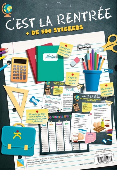 C'est la Rentrée + 500 stickers + 20 étiquettes scolaires