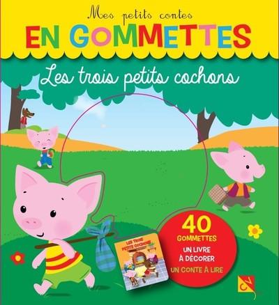 Les trois petits cochons - Mes petits contes en gommettes - 40 gommettes