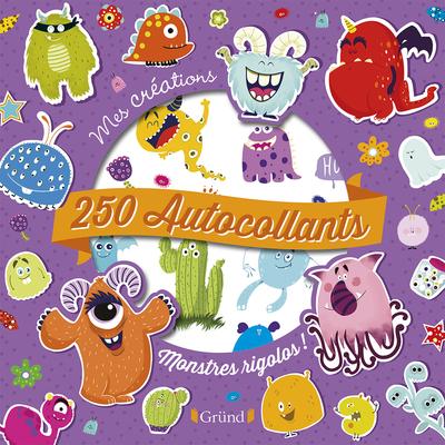 250 autocollants - Monstres rigolos