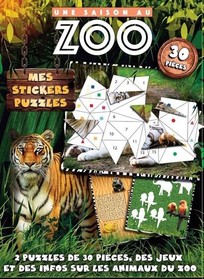 Une Saison au zoo - Mes stickers puzzles