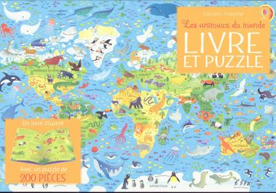 Coffret Les animaux du monde - Livre et puzzle