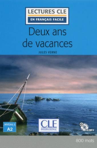 Deux ans de vacances - Niveau 2/A2 - Lecture CLE en français facile - Livre + CD