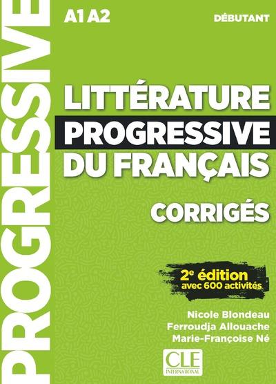 Littérature progressive du français - Niveau débutant - Corrigés - 2ème édition - Nouvelle couverture