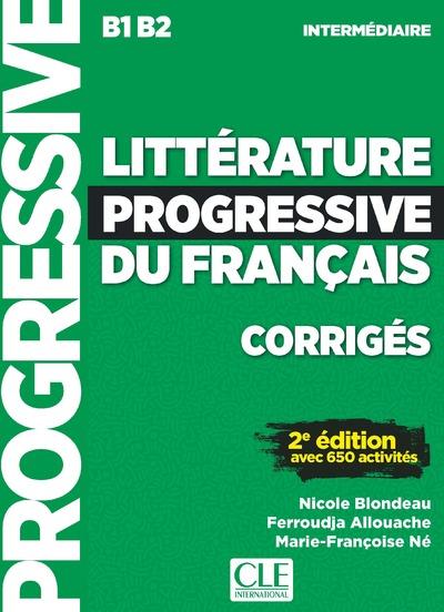 Littérature progressive du français - Niveau intermédiaire - Corrigés - 2ème édition - Nouvelle couverture