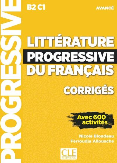 Littérature progressive du français - Niveau avancé - Corrigés - Nouvelle couverture