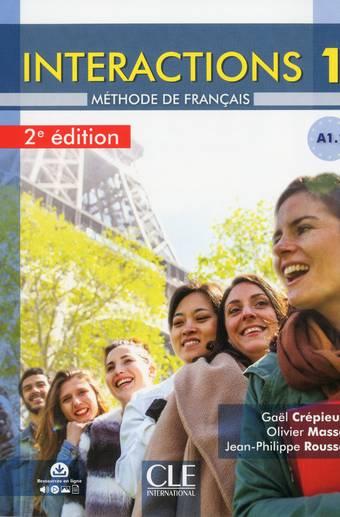 Interactions 1 - Niveau A1.1 - Livre de l'élève + DVD Rom - 2ème édition