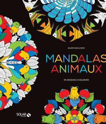 Black coloriage- Mandalas animaux
