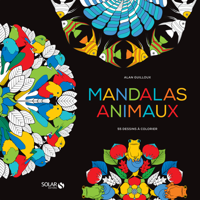 Black coloriage- Mandalas animaux