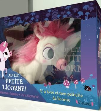 Au lit, petite licorne ! avec peluche