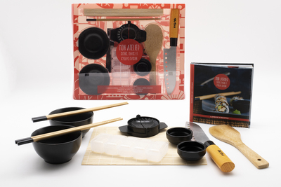 Coffret mon atelier sushis, makis et gyozas maison