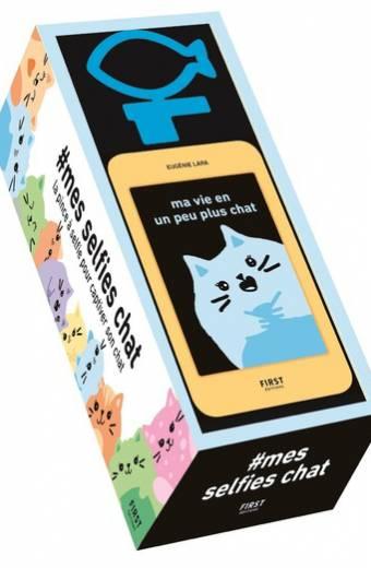 """#mes selfies chat - la pince à selfie pour captiver son chat + le petit livre """"Ma vie en un peu plus chat"""""""