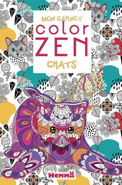 Mon carnet color zen - Chats