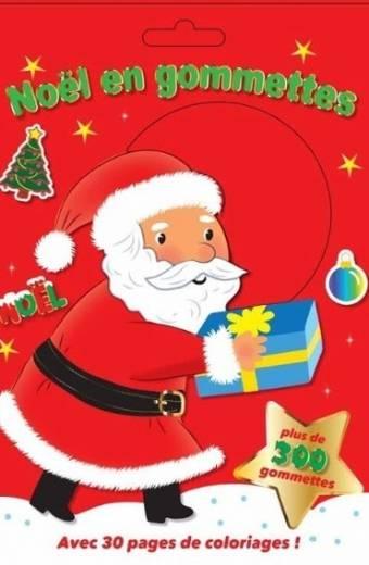 Noël en gommettes - Plus de 300 gommettes avec 30 pages de coloriages !