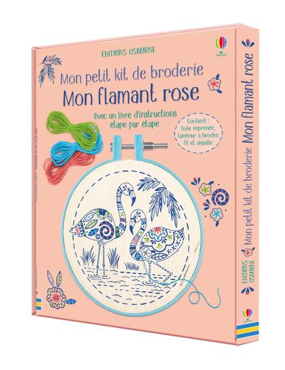 Mon flamant rose - Mon petit kit de broderie