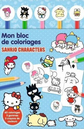 Sanrio Characters - Bloc coloriage crayon gomme