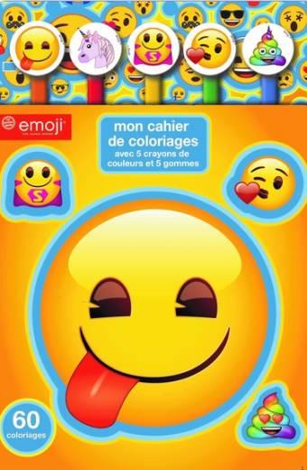 Emoji - Bloc coloriage crayon gomme