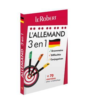 Le Robert - L'allemand 3 en 1 : grammaire, difficultés, conjugaison