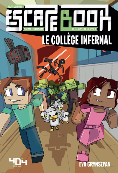 Escape Book enfant - Minecraft - Le collège infernal