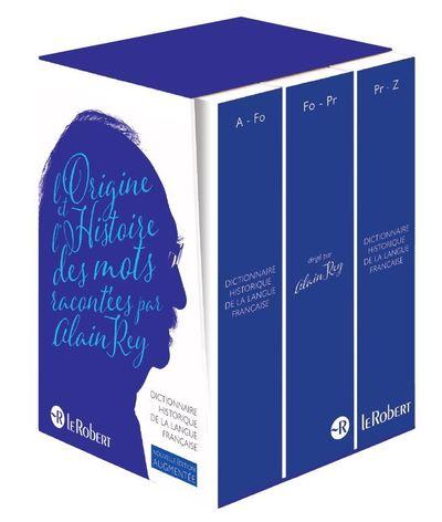 Le Dictionnaire Historique de la langue française - Coffret compact 3 volumes - Nouvelle édition augmentée