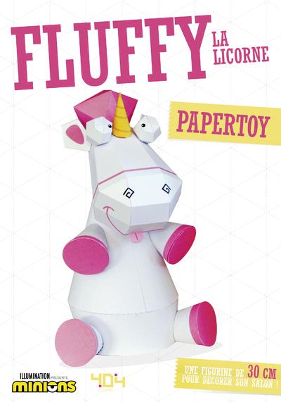 Moi, moche et méchant - Papertoy - Fluffy la licorne