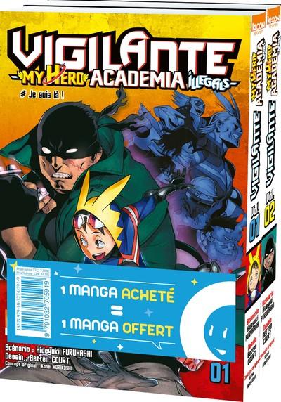 Pack offre découverte Vigilante - My Hero Academia Illegals T01 & T02