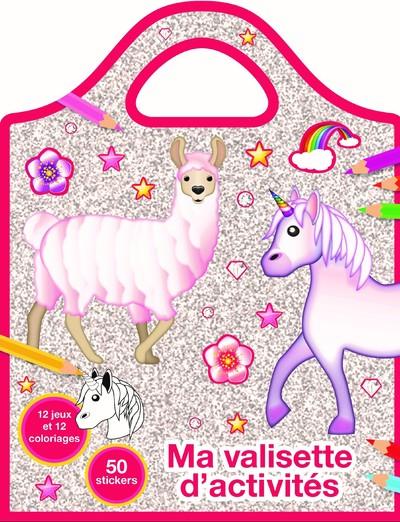Lama Licorne Emoji - Valisette coloriages et jeux