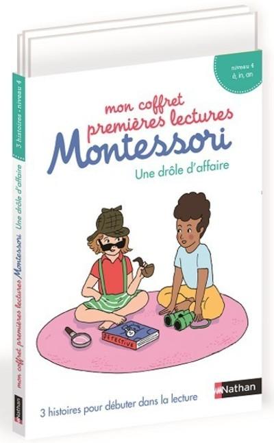 Mon coffret premières lectures Montessori - une drôle d'affaire - Niveau 4 - dès 4 ans : Etui 12
