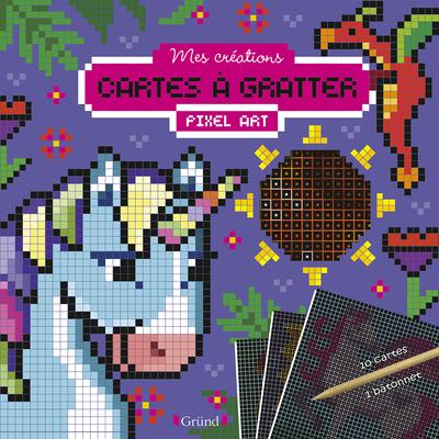 Cartes à gratter pixel art - Créatures magiques