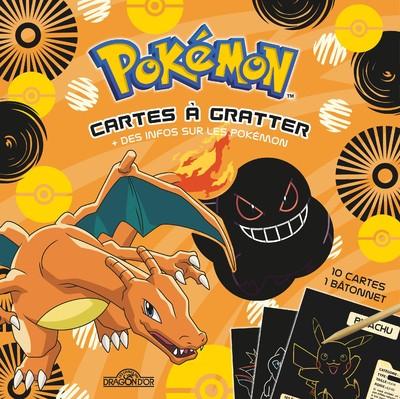 Pokémon - Cartes à gratter + des infos sur les Pokémon (Dracaufeu)