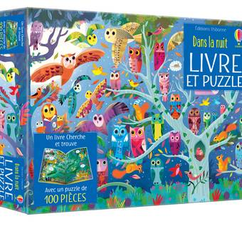 Dans la nuit - Coffret Livre et puzzle
