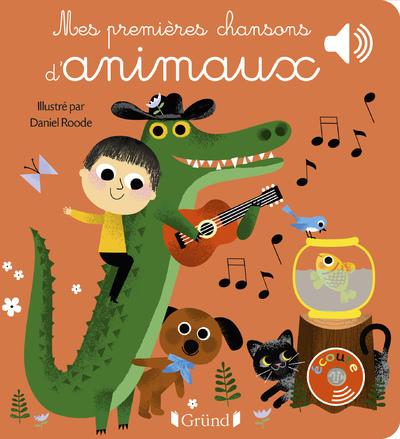 Mes premières chansons d'animaux – Livre sonore avec 6 puces – Dès 1 an