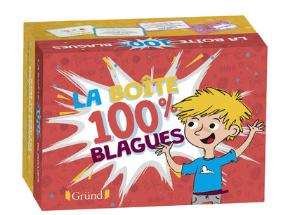 Ma boîte 100% blagues – Boîte de jeu avec 130 cartes : blagues, jeux de mots et devinettes – À partir de 7 ans