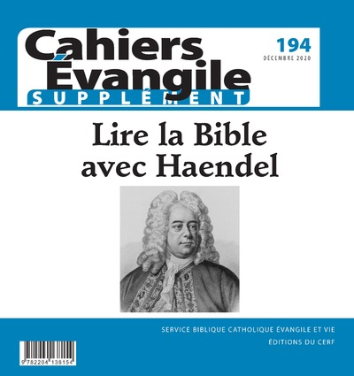 Cahier Evangile - numéro 194 - supplément -
