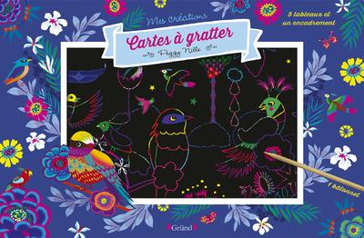 Cartes à gratter : Paysages merveilleux – Pochette avec 5 grandes cartes à gratter et 1 encadrement – À partir de 7 ans