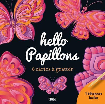 Cartes à gratter - 6 mini cartes à gratter  - Hello Papillons