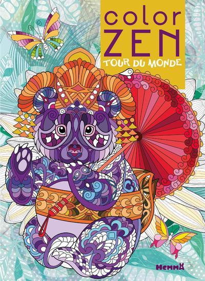 Color Zen - Tour du monde - Livre de coloriage détente - dès 7 ans